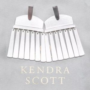 "Kendra Scott ""Layne"" Brushed Silver Post Earrings"